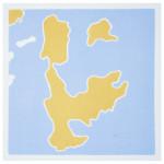 """""""et lite stykke Norge"""" (serie på ialt 12 små trykk), 20 x 20 cm, tresnitt/woodcut, 1998"""