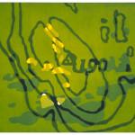 """""""190 moh, med utsyn mot vest"""", 49 x 58 cm, lino-/tresnitt (lino/woodcut), 1998"""