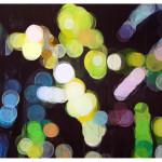 """lights and shadows II"", akryl på treplate, 122 x 90 cm, 2009"
