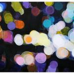 """lights and shadows III"", akryl på treplate, 122 x 90 cm, 2009"