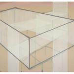 """""""et tenkt rom, I"""", akryl på treplate, 50 x 75 cm, 2012"""
