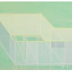 """""""et tenkt rom, II"""", akryl på treplate, 50 x 75 cm, 2012"""