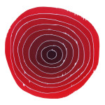 """i sirkel"", 60 x 60 cm, tresnitt/woodcut, 2002"