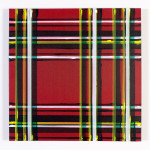 """""""vev-konstruksjon I"""" (skisse/studie, 50 x 50 cm, akryl på lerret, februar 2013)"""
