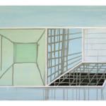 """""""to rom"""", akryl på treplate, 50 x 75, 2012"""