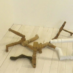 September 2014, scetches for sculptural works based on parts from old furnitures