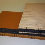 fotoalbum, her vist med koptisk og japansk binding