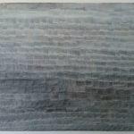 """tittel: """"vag utsikt"""", teknikk: akryl/klister på lerret, format: 80 x 100 cm, år 2018"""