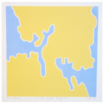 """""""et lite stykke Norge nr. 10"""" (serie på ialt 12 små trykk), 20 x 20 cm, tresnitt/woodcut, 1998"""