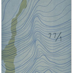 """fjell i dagen"", 50 x 70 cm, lino-/tresnitt, 1998"
