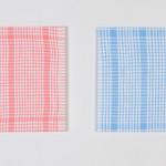 """""""en ordnet helhet"""", her ved 4 stk á 60 x 60 cm, akryl på lerret, 2014"""