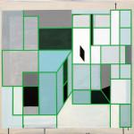 """Inngang II"", akryl på treplate, 80 x 90 cm, 2012"