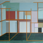 """""""rekonstruert vegg"""", akryl på treplate, 122 x 80 cm, 2012"""