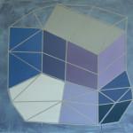 """""""romlig struktur"""", akryl på treplate, 80 x 90 cm, 2012"""