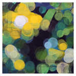 """""""summernight"""", akryl på lerret, 50 x 50 cm, 2009"""