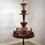 """Wondering Wandering"", wood table with figures, 2008"