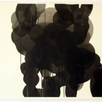 """shadows talk"", akryl på papir, 53,5 x 76 cm"
