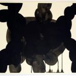 shadows talk, akryl på papir, 53,5 x 76 cm