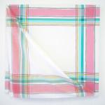 """""""something in common"""", tekstil montert på akrylbemalt lerret, ca 90 x 90 cm"""