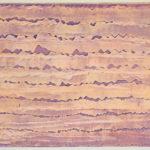 tittel: Horisont, format: 80 x 100 cm, teknikk: akryl/klister på lerret, år: 2018